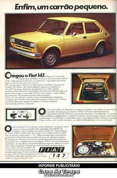 Enfim, um carrão pequeno.      Fiat, 1976.