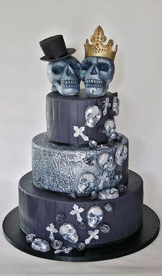Skull wedding cake. Cakes - Taarten