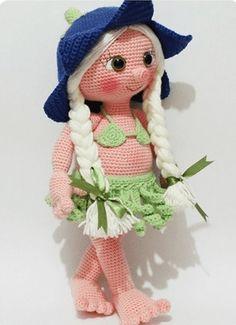 Cómo crochet lápiz con los dedos para muñecas (4) (397x548, 146Kb)