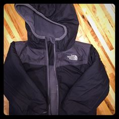 Toddlers North Face Winter Coat Toddlers North Face Winter Coat - reversible grey & black toddler coat. Size 3T North Face Jackets & Coats Puffers
