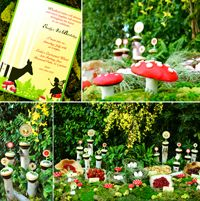 I want to have a fairy party for Evelyn... maybe I can find some small ideas from all of this extravagance?