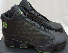 392f16c2c233c Air Jordan 13 XIII Retro BG Altitude 414574-042 Black Green Shoes Size 6.5Y   Jordan  AthleticSneakers