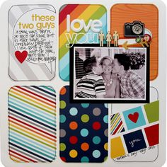 #papercraft #scrapbook #layout.  Love You - Scrapbook.com; would be great with NEW My Digital Studio Project Life by Stampin' Up!