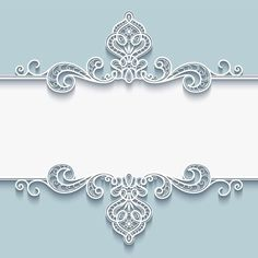 Abstract vector background with paper divider, header, ornamental lace frame, Invitation Background, Floral Invitation, Invitation Cards, Invitations, Frame Background, Vector Background, Paper Background, Borders For Paper, Borders And Frames