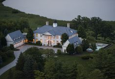 Who wouldn't love to come home to THIS? Barrington Hills Real Estate - 344 Old Sutton Road. Mansions For Sale, Mansions Homes, Grayson Manor, Luxury Log Cabins, Hallway Designs, Modern Mansion, Luxury Marketing, Expensive Houses, Home Decor Shops