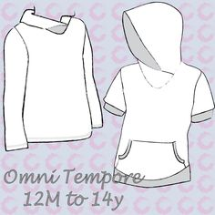 Omni Tempore kids Unisex sizes 12 Months to 14 Years – Sofilantjes Patterns