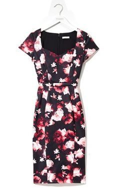 The Eva Mendes Collection Dita Dress. - love this shape, but not really the pattern