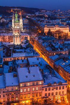 Evening Lviv from Ratusha by Vasyl Chornyy on 500px