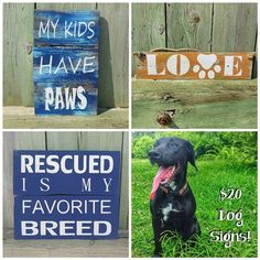 ***On Sale Now!*** Hand Painted Dog Signs Usually - $34  Today Only - $20 (Only 1 of each Available at this price!) Made from reclaimed pallet wood and canine approved. **Simply type your email in the comments, or message the page directly to order! This deal ends at Midnight so get it now!