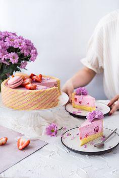 Joconde strawberry cake (ciasto z truskawkami) #ciastojoconde #wypieki