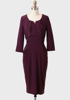Plum wine ruched indie dress mob mog or bridesmaid