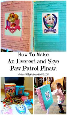 How To Make An Everest and Skye Paw Patrol Pinata Using Recycled Cardboard Boxes