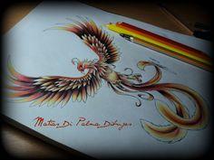 Dibujo Ave Fenix