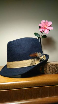 Hey, I found this really awesome Etsy listing at https://www.etsy.com/ie/listing/269439407/ladies-classic-trilby-hat-navy-hat-with