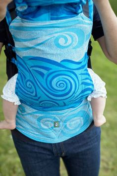 Lenny Lamb S.C. Ergonomic Carrier Wrap Conversion (Toddler) - Blue Waves