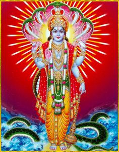"""☀ SHRI VISHNU ॐ ☀Lord Brahma said:""""When one pours water on the root of a tree, the trunk and branches of the tree are automatically pleased. Similarly, when one becomes a devotee of Lord Vishnu, everyone is served, for the Lord is the Supersoul of everyone.""""~Srimad Bhagavatam 8.5.49"""