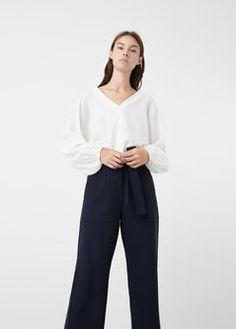 Блузка с фактурными полосками