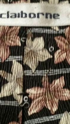 Claiborne Mens Neck Tie Classic Multi Color 100% Silk Geometric  #Claiborne #NeckTie