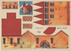 Recortables Kiki nº 1. (21,5x29) Iglesia pirenaica. (Coleccionismo - Recortables - Construcciones)