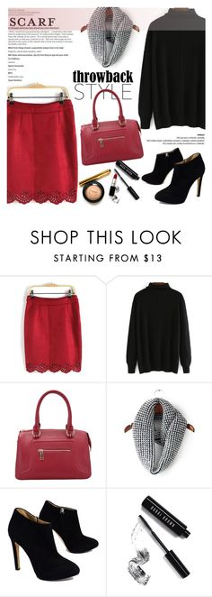 """""""It's a Wrap! Fun Fall Scarves"""" by helenevlacho ❤ liked on Polyvore featuring Giuseppe Zanotti, Bobbi Brown Cosmetics, scarf and contestentry"""