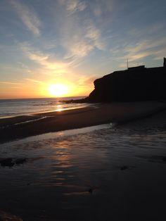King Edwards bay sunrise over cliffs 7. 04 am 2 February Sunday 2014