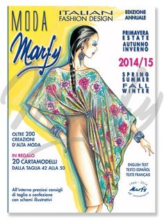 Marfy sewing patterns: Spring/Summer and Fall/Winter 2014/15 collections. Free GIFT in the catalogue: 20 printed patterns in sizes 42, 44, 46, 48 and 50.