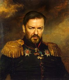 Ricky Gervais - replaceface Art Print by Replaceface | Society6