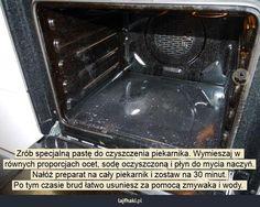 Czym czyścić brudny piekarnik? - Zrób specjalną pastę do czyszczenia piekarnika…