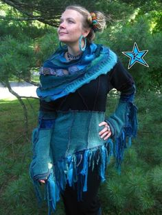 Recycled Elf Couture - check out the capelet.