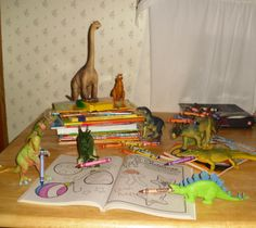 coloring fun with dinosaurs