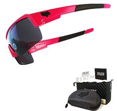 Fox The Duncan Sport Sunglasses by Oakley Hot Pink Frame Grey Lens Sample USA