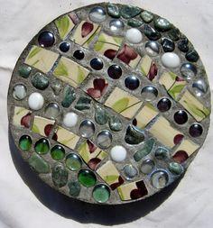 Mosaic Stepping Stones on Etsy, $50.00