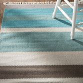 Found it at Joss & Main - Madison Teal Striped Hand-Tufted Area Rug