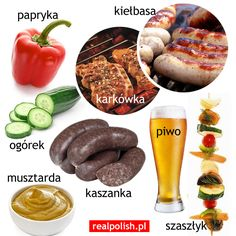 Polish vocabulary - Food and drink Punctuation Posters, Learn Polish, Carol Songs, Polish Words, Polish Language, Learning Games, Speech And Language, Logo Nasa, Food And Drink