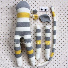 Sewing your own monkey from a sock is as easy as a pie with this great step by step tutorial. All credits to craftpassion.com