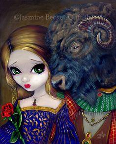 Beauty and the Beast fairytale fairy art print by Jasmine Becket-Griffith 8x10. $13.99, via Etsy.