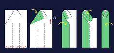 図3・身頃の折り方