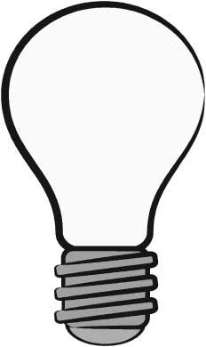 Book Week 2015. Light bulb template - free download