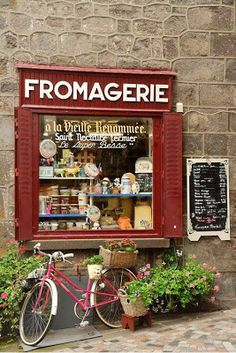 to live in France again. Fromagerie, Besse-et-Saint-Anastaise, Auvergne, Central France By merou Beautiful World, Beautiful Places, Vitrine Design, Cheese Shop, Shop Fronts, Boutiques, Coffee Shop, Display, Rustic