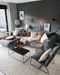 Stylish and cozy interior located in Netherlands.Photo courtesy … credit Stylish and cozy interior located in Netherlands. Living Room Decor Apartment, Apartment Living Room, Living Room Scandinavian, House Interior, Living Room Grey, Interior Design Living Room, Living Decor, Cosy Living Room, Cozy Interior