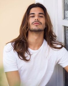 34 Impressive Long Hair And Beard Ideas For Handsome Man - Long Hair Highlights, Long Hair Beard, Men Hair Color, Beard Styles, Haircuts For Men, Gorgeous Men, Hair Inspiration, Sexy Men, Cool Hairstyles