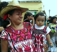 Mama y bebe. Indigenous people of Oaxaca, Mexico. Certain regions of Mexico are primarily made up of indigenous people where  they tend to be the majority.