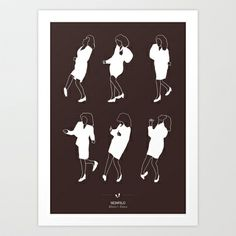 Seinfeld+Art+Print+by+Niege+Borges+-+$16.64