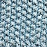 Seed stitch is a very simple stitch done with variations of knits and purls. The knit and purl stitches oppose one another thus creating little textures which resemble seeds. The seed stitch does require more yarn than most other stitches. Knit Purl Stitches, Knitting Stiches, Lace Knitting, Knit Crochet, Knitting Patterns, Knitting Ideas, Moss Stitch, Seed Stitch, Yarn Projects