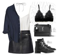 """""""Unbenannt #732"""" by style-setup ❤ liked on Polyvore featuring Clips, Alexander Wang, Xirena, Givenchy, Yves Saint Laurent and Lilou"""