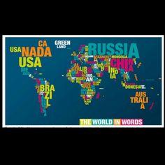 El mundo en palabras #world #word #art #picture #culture