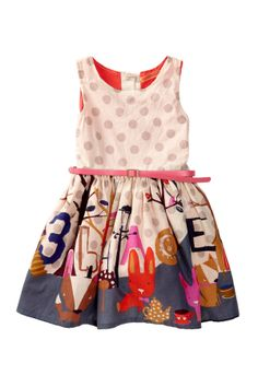 Printed Sleeveless Dress (Toddler, Little Girls, & Big Girls)