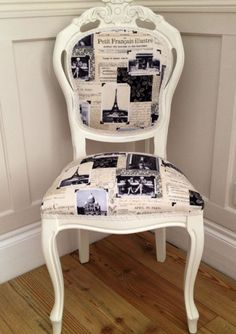 Fabulous shabby chic French vintage postcards Louis chair on Etsy, $137.86