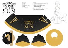Empire of the Sun - Nick Littlemore's attire for the Walking on the Dream CD. Print on heavier stock paper and assemble.