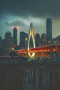 Photo: A bridge in mountainous city Chongqing in China's southwest